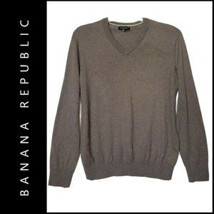 Banana Republic Men Cotton Cashmere V Neck Sweater
